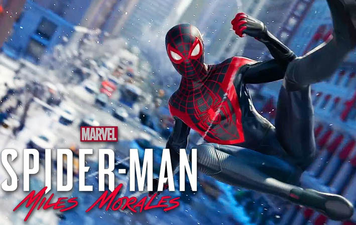 spider-man suit in the new ps5 game spider-man miles morales